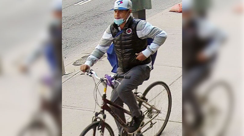 Man on bike sought in syringes investigation