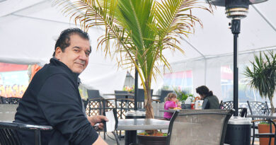 Chris Kamarlingos on Quarry patio