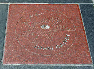 John Candy on Walk of Fame