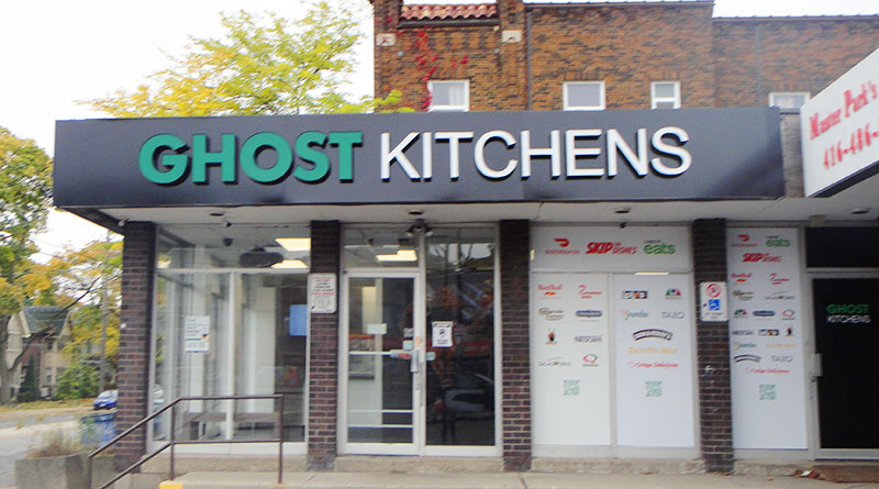 Ghost Kitchens outside