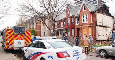Oxford Street fire scene