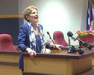 Kathleen Wynee at Agnes MacPhail awards