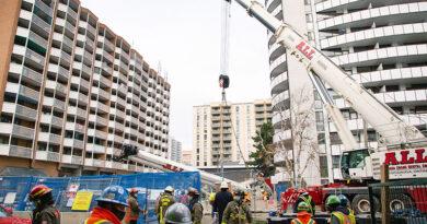 Crane lifting crane