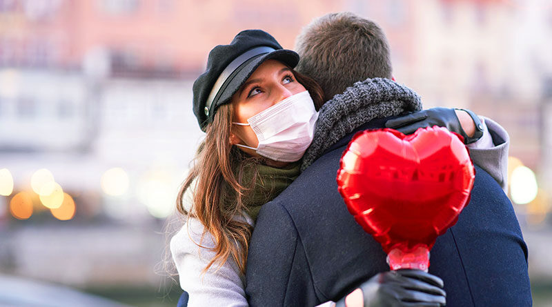 Valentine's Day with mask