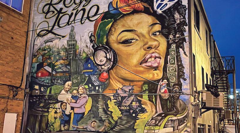 Reggae Lane mural