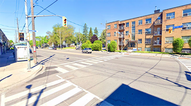 St. Clair and Plaxton by Google