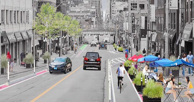 Yonge Street patios and bike lanes