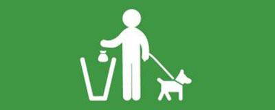 Sticker for dog poop bins