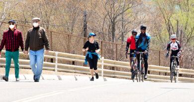 walking, jobbing and cycling on closed roads