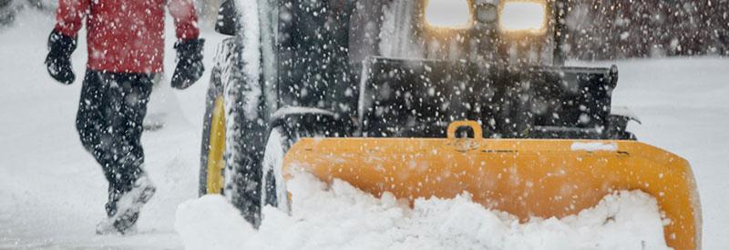 sidewalk snow clearing plow