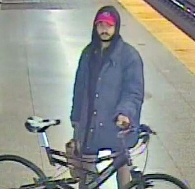 assault suspect with bike - police