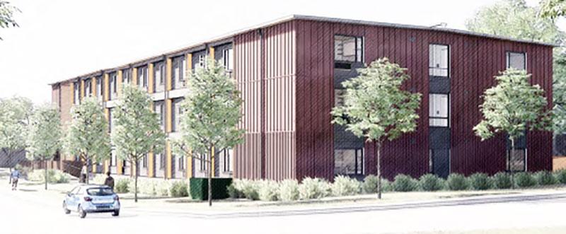 modular housing rdenering