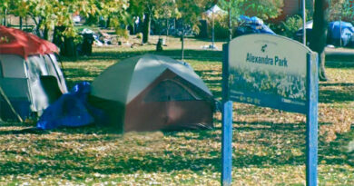 Alexandra Park with tents