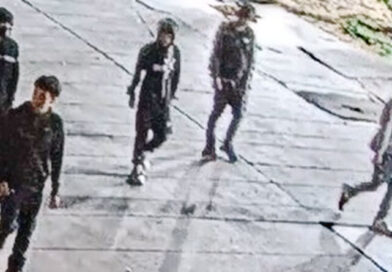 Photos released of five wanted in attack near city hall