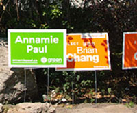 Central Toronto election signs thumbnail