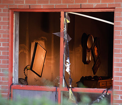 Window at Millwood Road fire