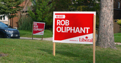 Oliphant federal election signs