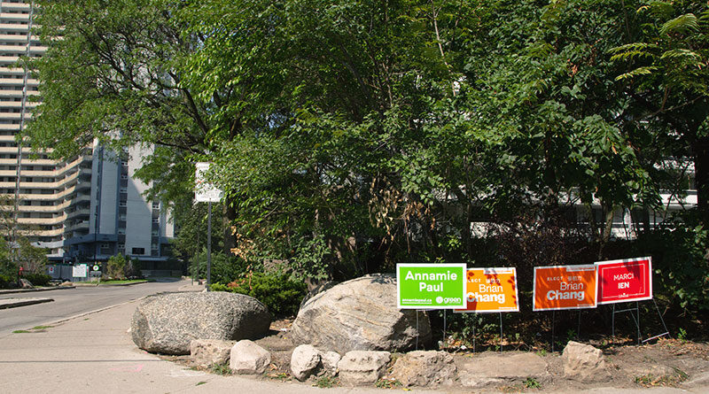 Annamie Paul among Toronto Centre election signs
