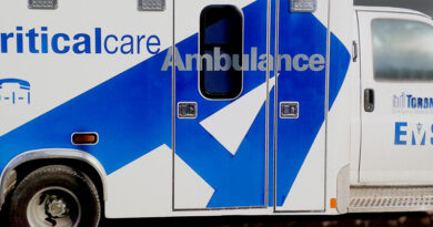 Ambulance for man hit by bus